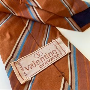 Valentino Cravatte Orange Pattern Mens Tie